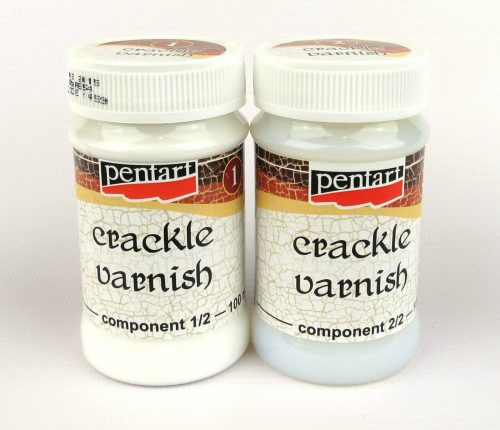 Pentart Crackle Medium Classic, varnish Two-Components 2x100ml set