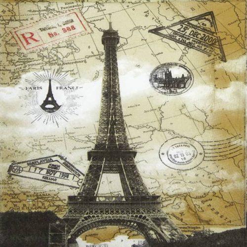 Paper Napkin - Paris Eiffel Tower