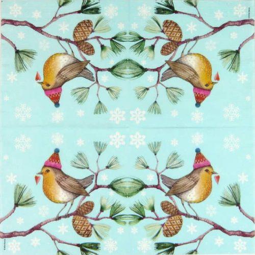 Paper Napkin -  Mila Marquis: Winter Bird