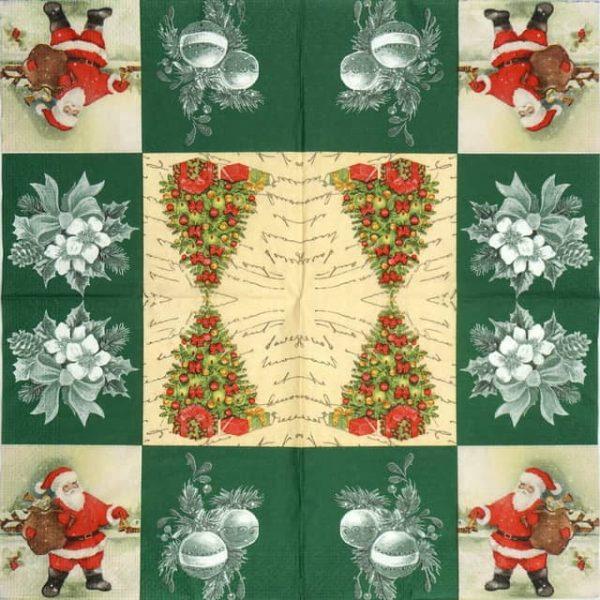 Paper Napkin - Green Christmas
