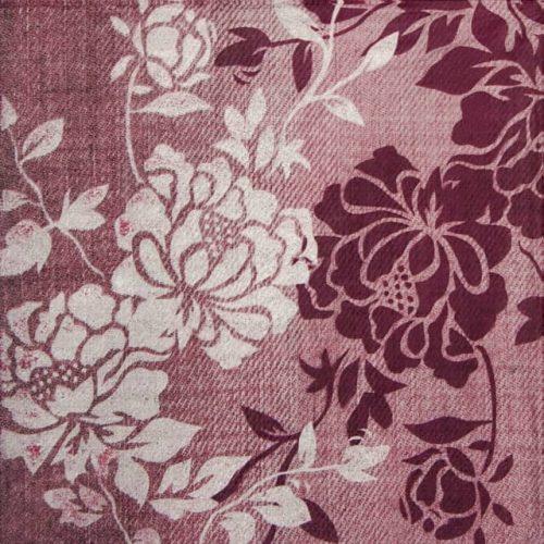 Paper Napkin - Burgundy Flower
