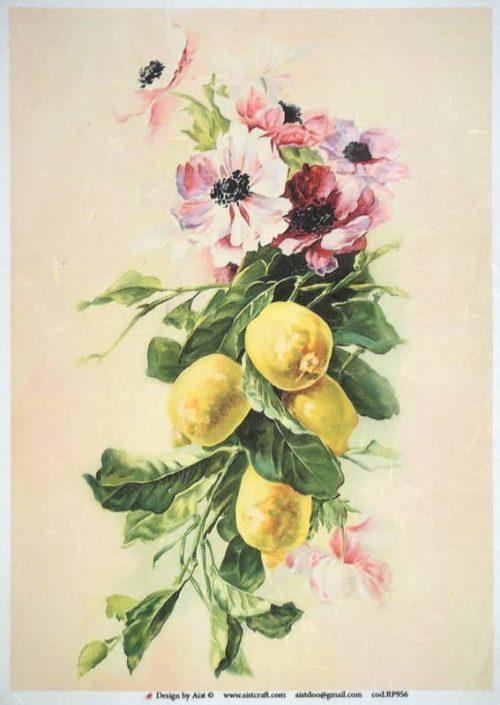 Rice Paper - Vintage lemon tree