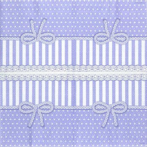 Paper Napkin - Bow Lavender