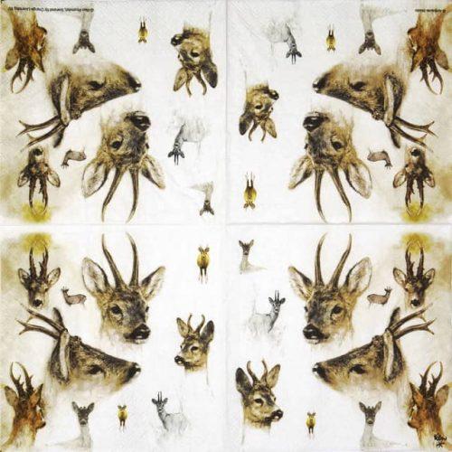 Paper Napkin - Portraits of Deer