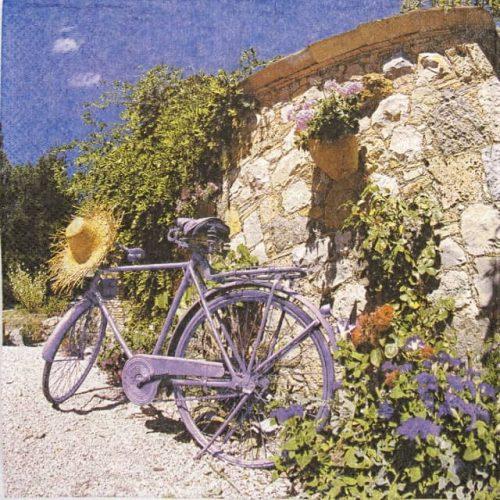 Paper Napkin - Bike in Provance