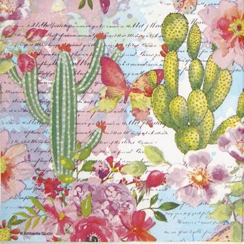 Lunch Napkins (20) - Roses & Cacti