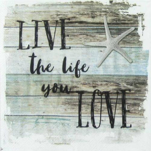 Paper Napkin -  Live the Life