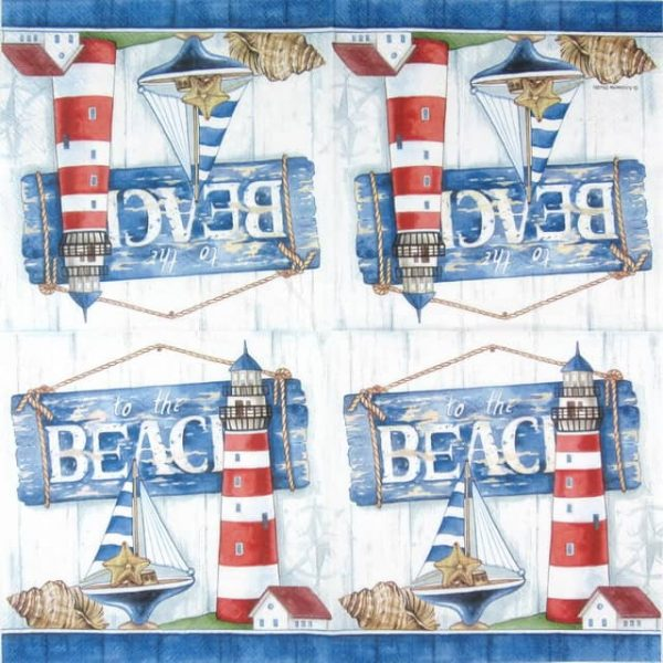 Cocktail Napkins (20) - To the Beach