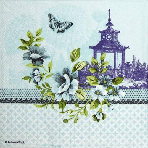 Paper Napkin - Pagode blue