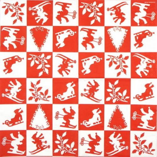 Paper Napkin - X-mas Impressions Red