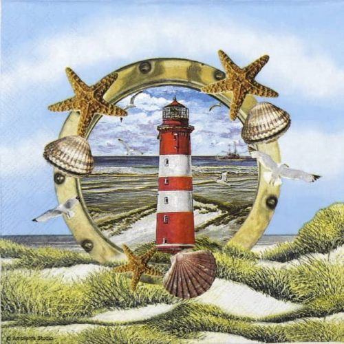 Cocktail Napkins (20) - Lighthouse in partridge