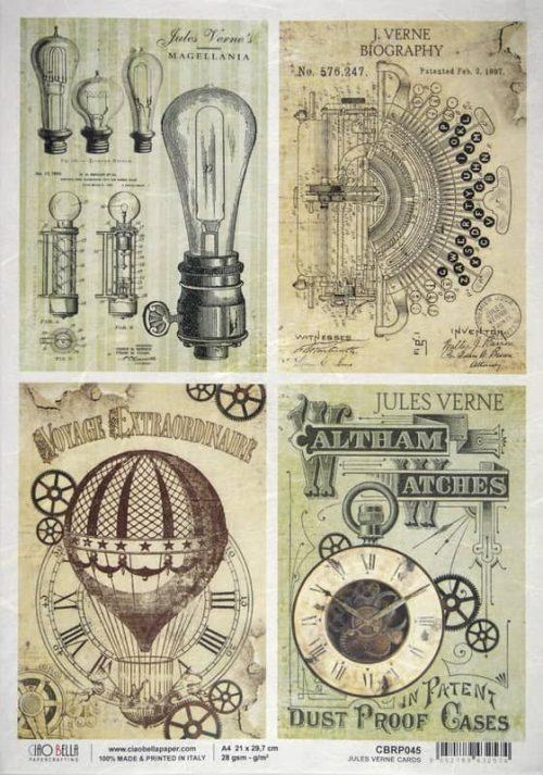 Rice Paper - Jules Verne Cards