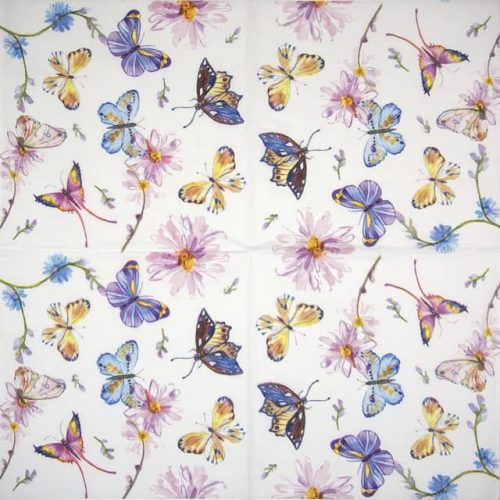 Cocktail Napkin - Butterflies