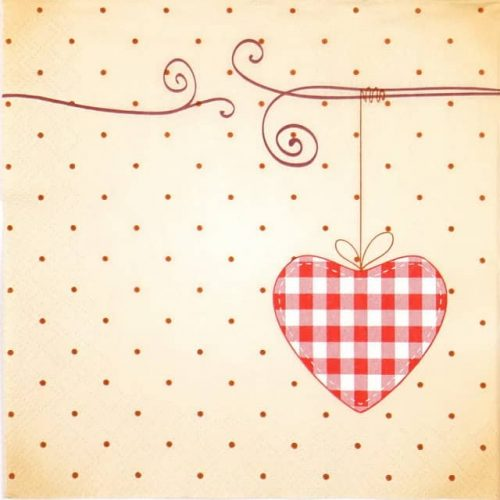 Paper Napkin - Red Love Spots