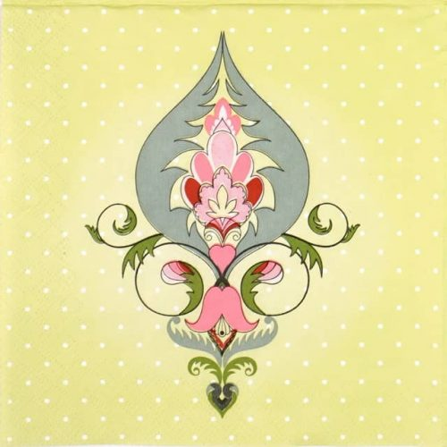 Lunch Napkins (20) - Green Ornaments