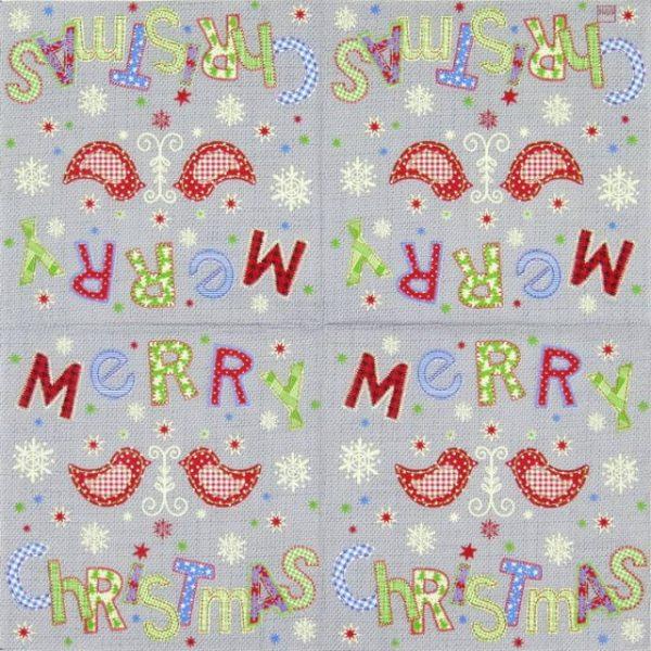 Paper Napkin - Stitched Christmas