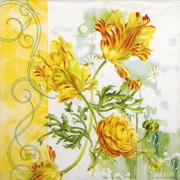 Paper Napkin - Tulip Art