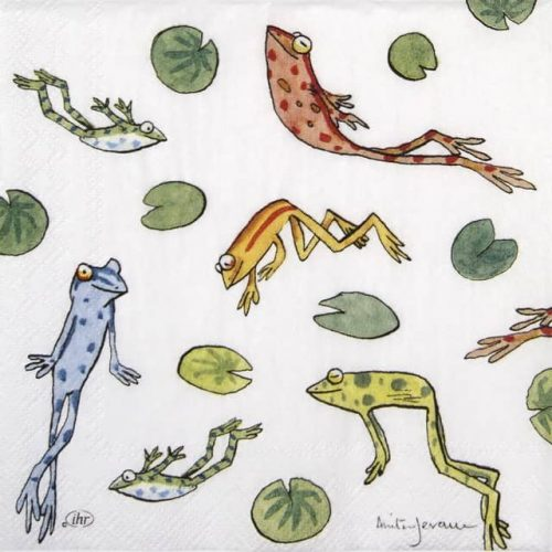 Cocktail Napkin - Jumping frogs