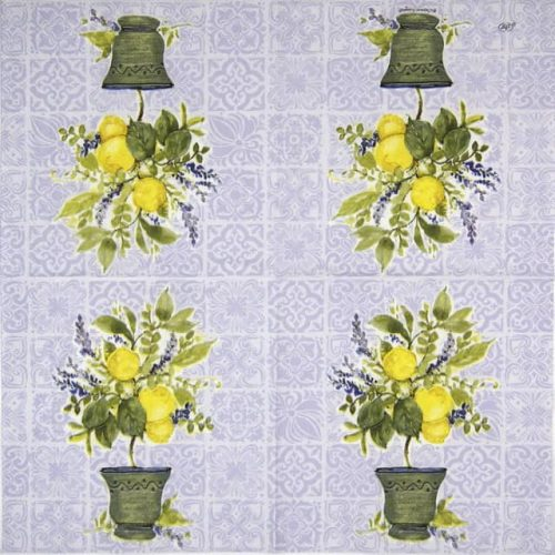 Cocktail Napkin - Lemon tree