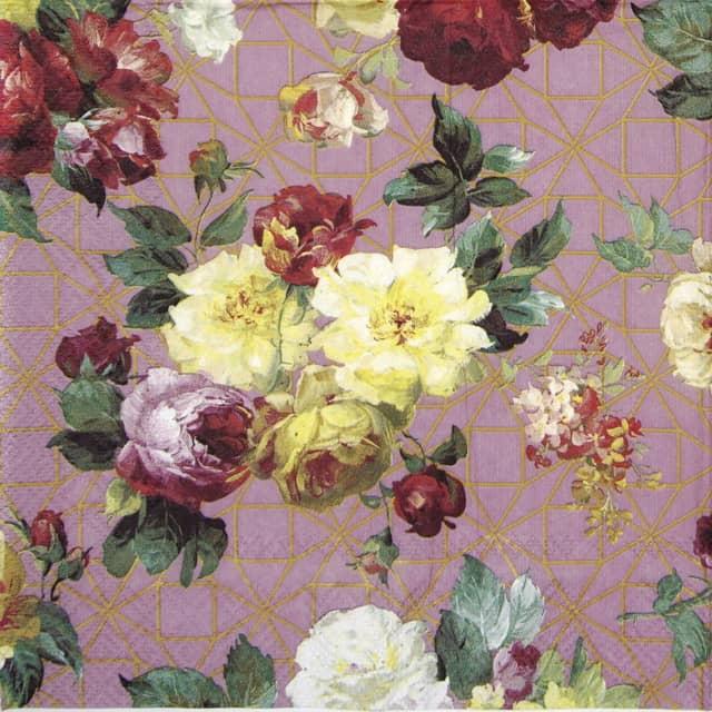 Lunch Napkins (20) - Vintage Rose rose gold