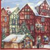 Lunch Napkins (20) - Winterly  Christmas Market