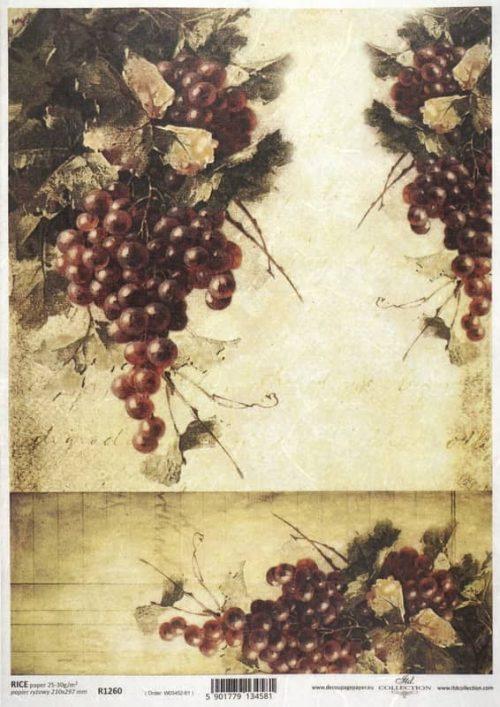 Rice Paper - Autumn Grape