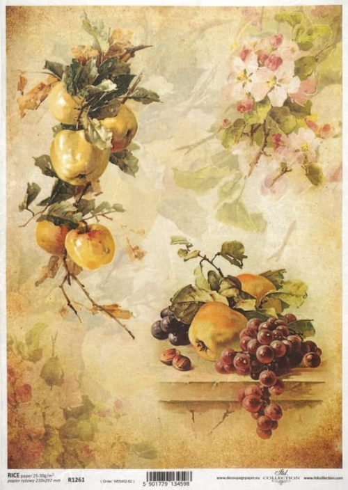 Rice Paper - Autumn Apple & Grape