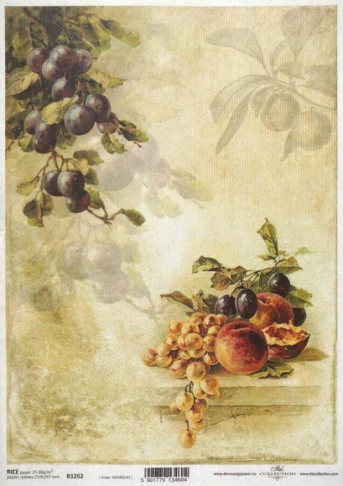 Rice Paper - Autumn Plum, Apricot & Grape