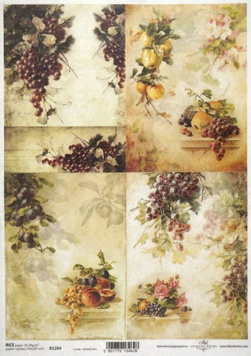 Rice Paper - Autumn Collage