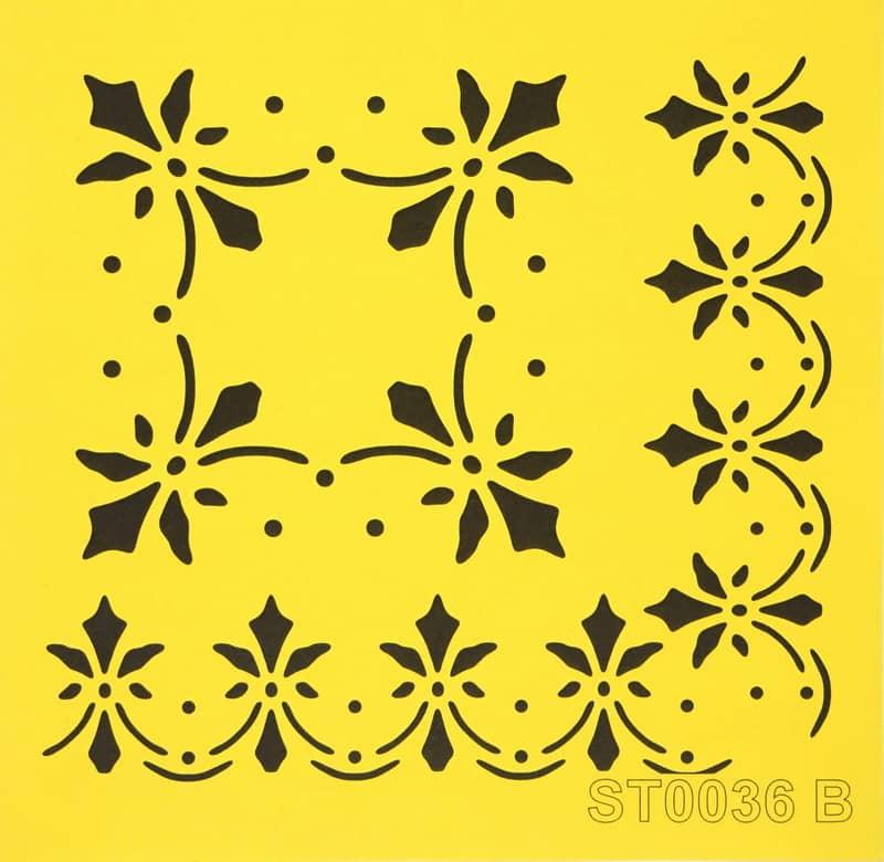 Reusable Stencil - 16x16cm - Thin shapes