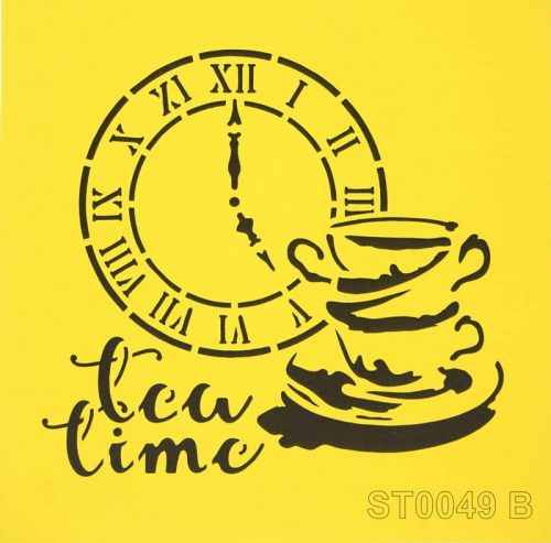 Reusable Stencil - 16x16cm - Five o'clock tea