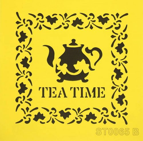Reusable Stencil - 16x16cm - Tea Time
