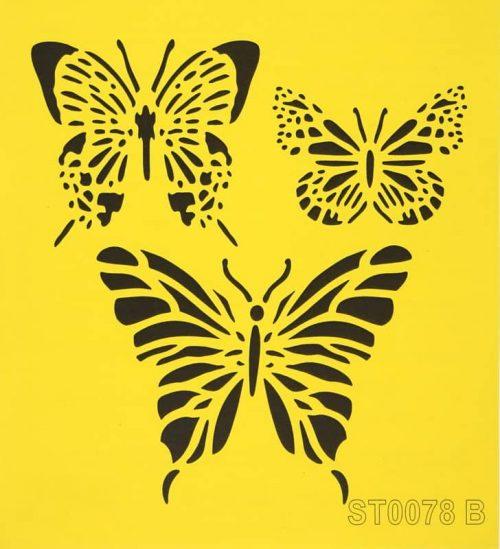 Reusable Stencil - 16x16cm - Papillons