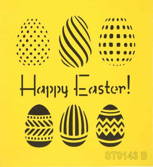 Reusable Stencil - 16x16cm - Happy Easter!