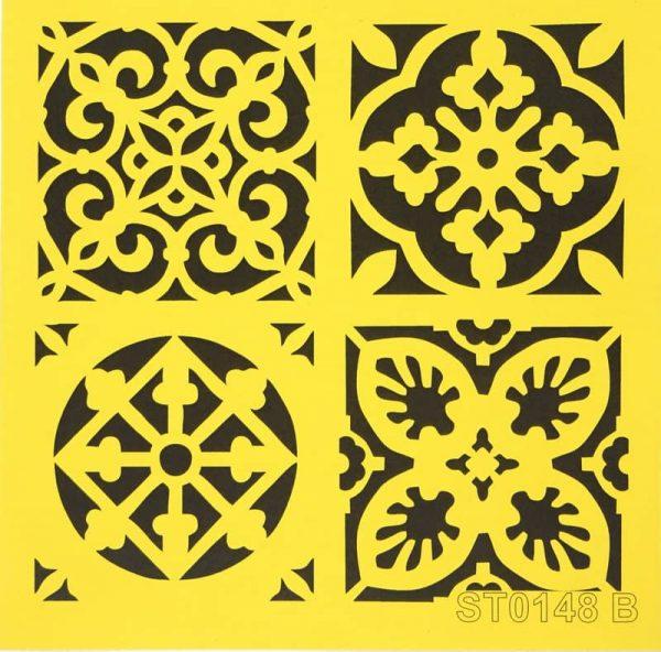 Stencil_ITD_ST0148B_Moroccan tiles design
