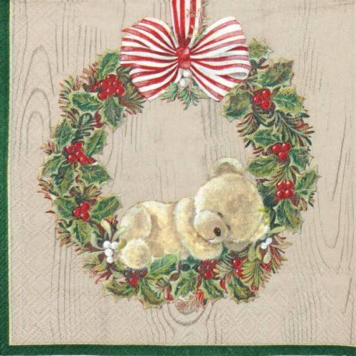 Paper Napkin - Little Weary Bear Brown
