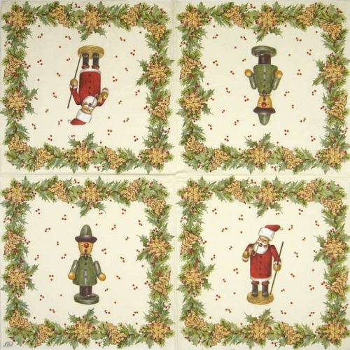 Paper Napkin - Christmas Handcraft Cream