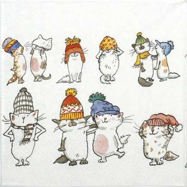 Lunch Napkins (20) - Anita Jeram: Cats with Hats