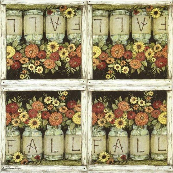 Lunch Napkins (20) - Fall mason jars