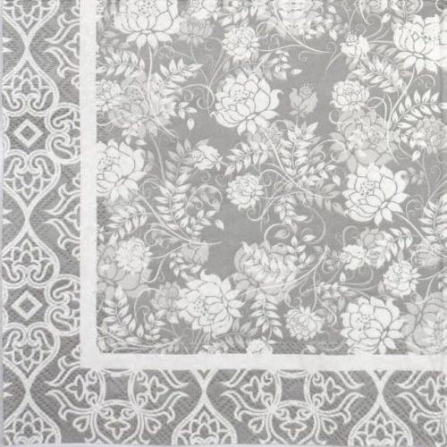 Paper Napkin - Classic Garden silver