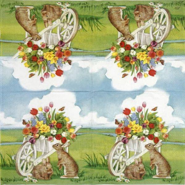 Paper Napkin - Easter barrow