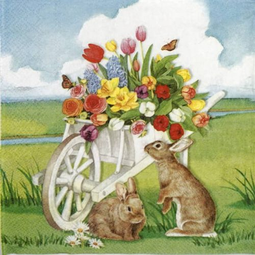 Paper Napkin - Easter barrow