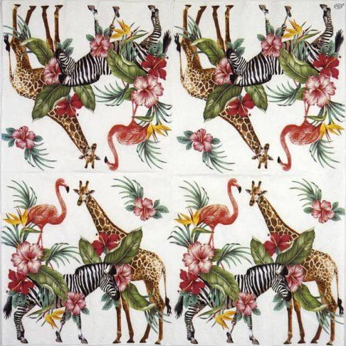 Paper Napkin - Safari Park