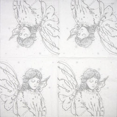 Lunch Napkins (20) - Like an Angel silver