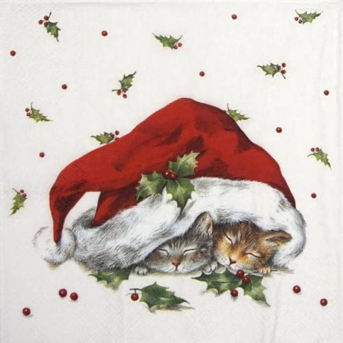 Paper Napkin - Sweet Christmas Cats