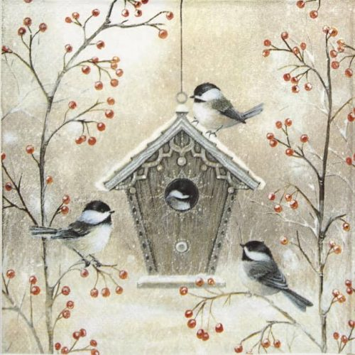Paper napkin_Ihr_Beautiful_birdhouse_834200