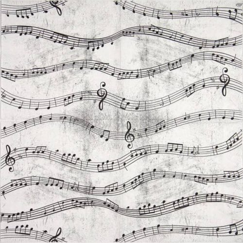 Cocktail Napkin - Music Notes