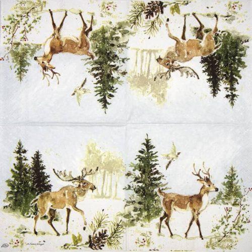 Lunch Napkins (20) - Woodland Deer and Moose