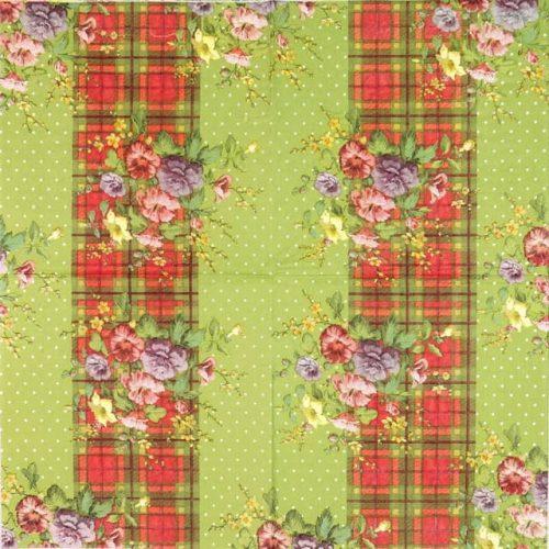 Paper Napkin - Katie Alice Shabby Chic Highland Fling
