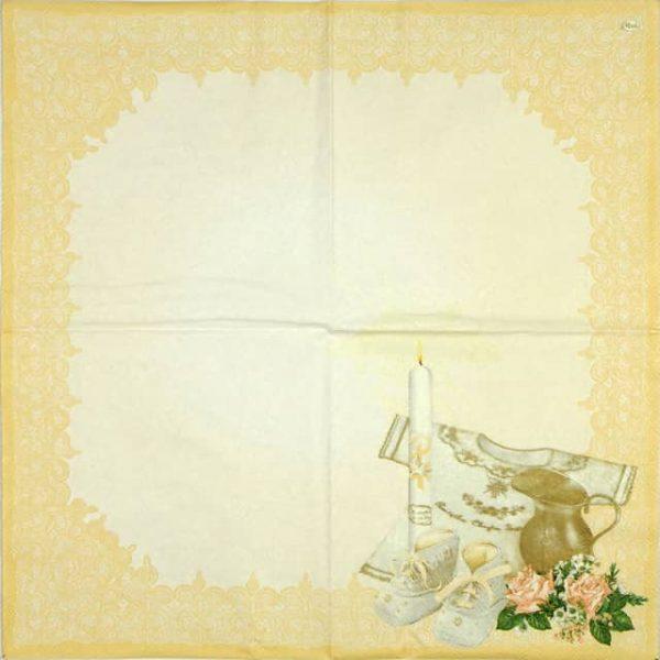 Paper Napkin - Christening Cream